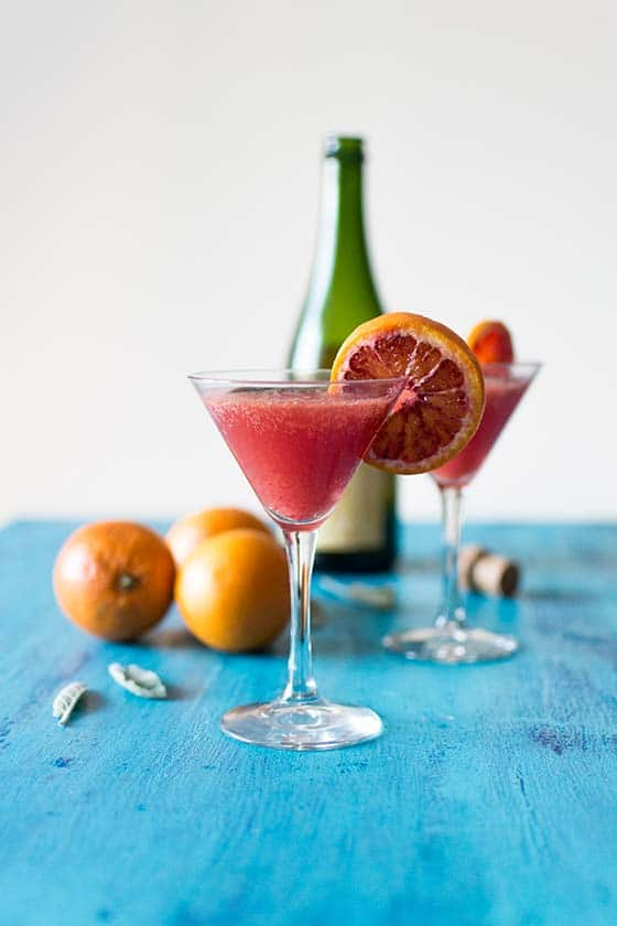 Cocktail acidulé à l'orange sanguine et au cidre