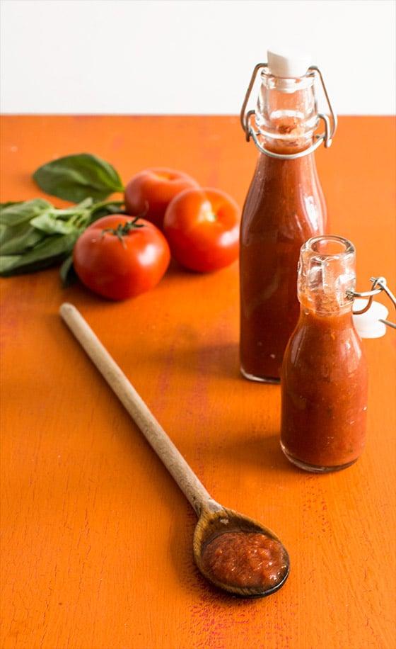 Purée de tomates façon passata