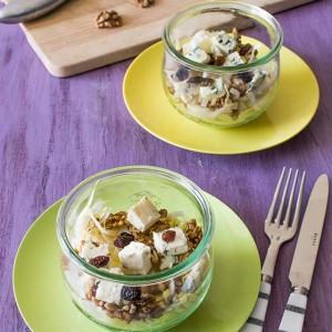 Recette de salade d'endives aux noix et fromage bleu