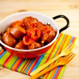 Recette facile de rougail saucisses, plat typique de la Réunion