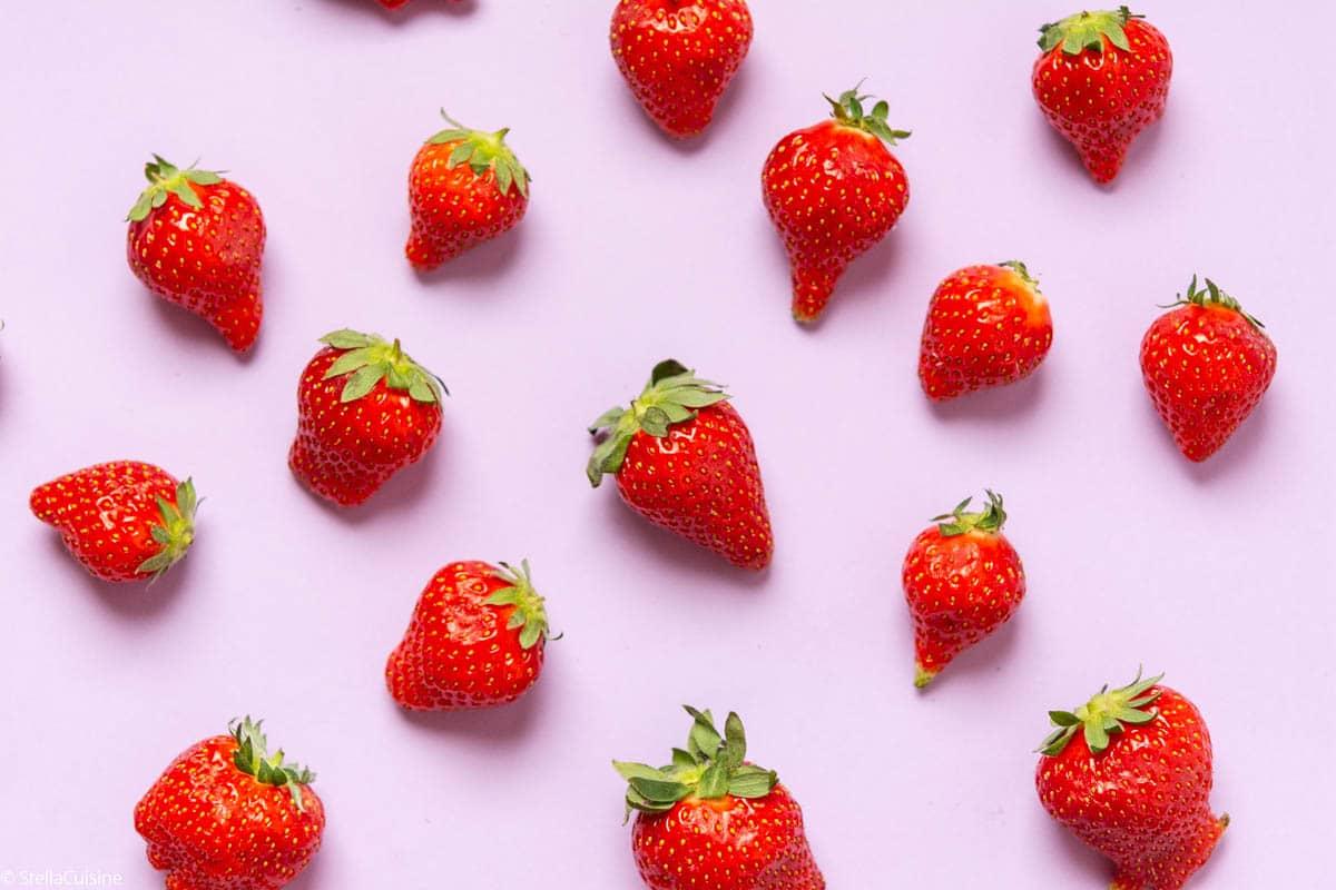 Fraises, délicieuses en pleine saison de printemps ! Des recettes avec des fraises à Foison ! Mara des bois, guariguettes, magnum... De belles recettes faciles avec des fraises