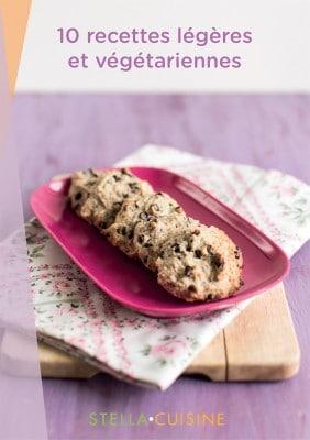 """Ebook """"10 recettes légères et végétariennes"""" par Stella Cuisine"""