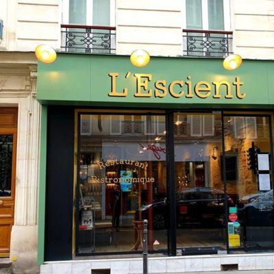 Restaurant L'Escient, petite pépite du 17ème (Paris)